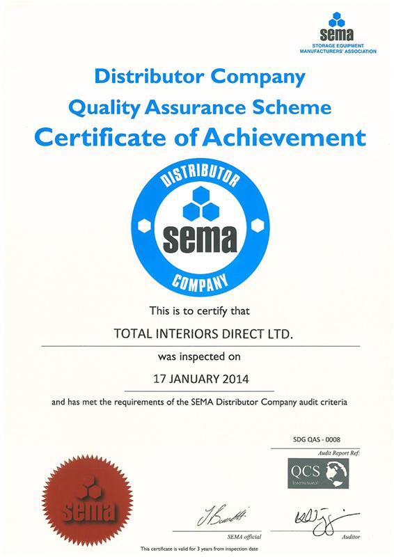Sema Quality Assurance Certificate