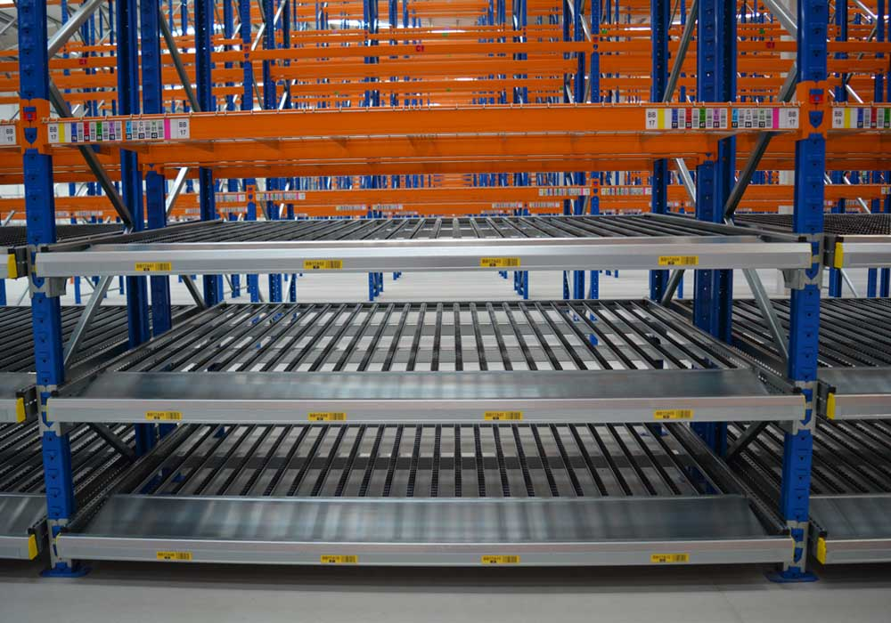 Warehouse Design & Planning, Carton-Live- Racking