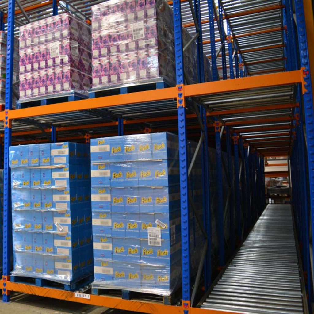 Warehouse Design & Planning, Push Back Racking
