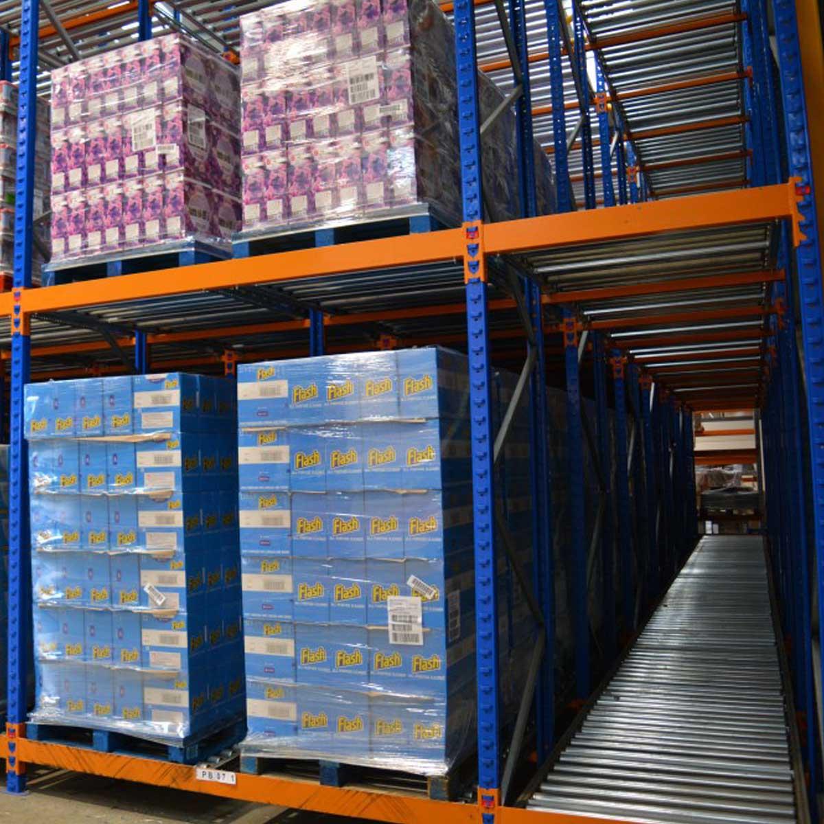 Warehouse Design & Planning, Push Back Racking
