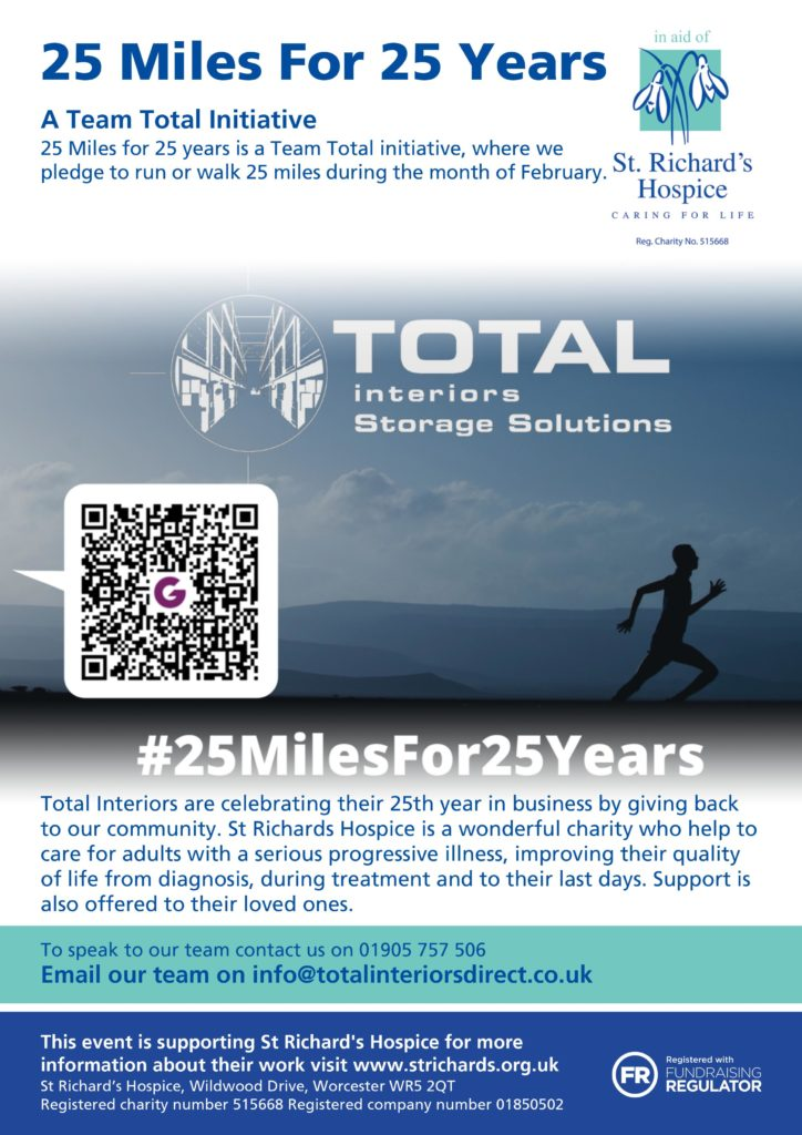 25 Miles for 25 Years Team Total